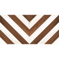 CHEVRON PINCELADO MARRON